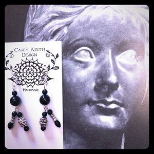 Onyx Tassel Earrings